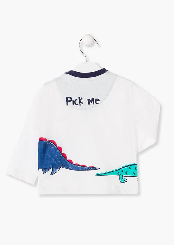 Лонгслив с динозавром LOSAN