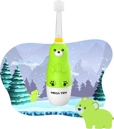Детская электрическая зубная щётка MEGA TEN KIDS SONIC (Мишка)