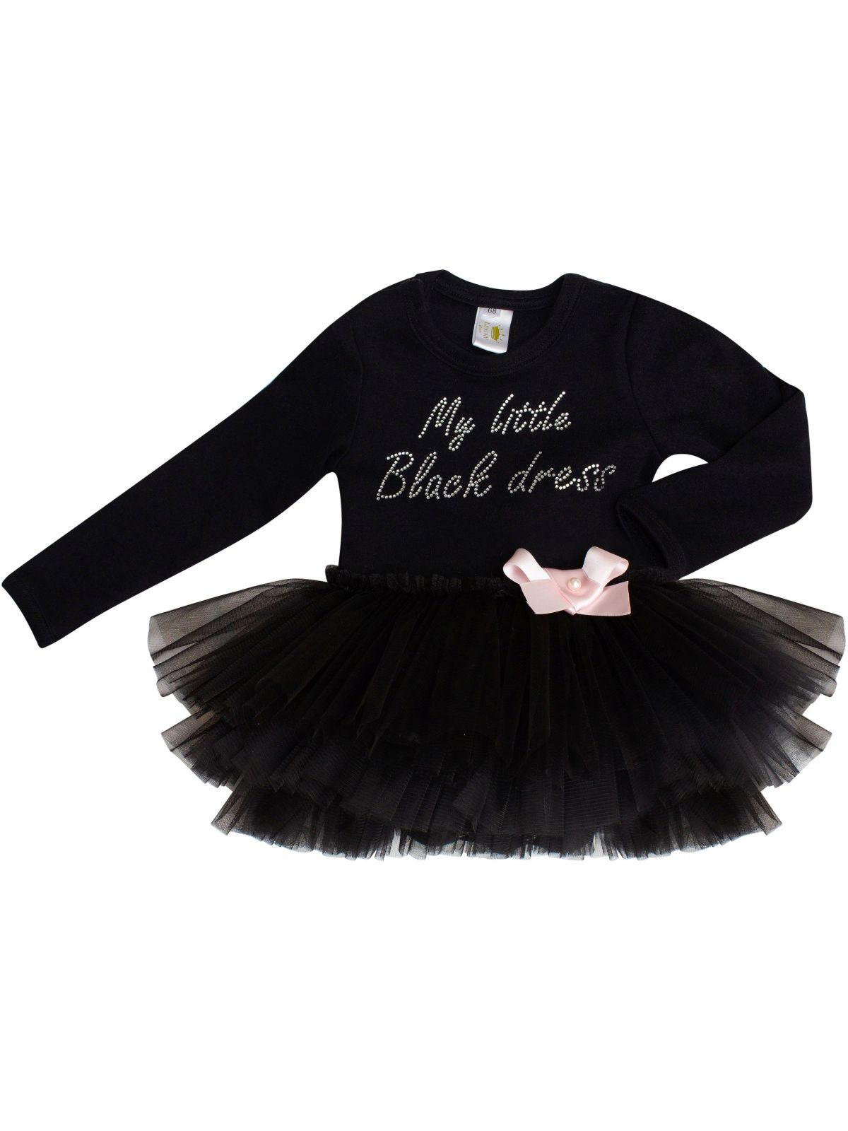 "Боди ""My little black dress"" с чёрной юбочкой, LUXURY BABY"
