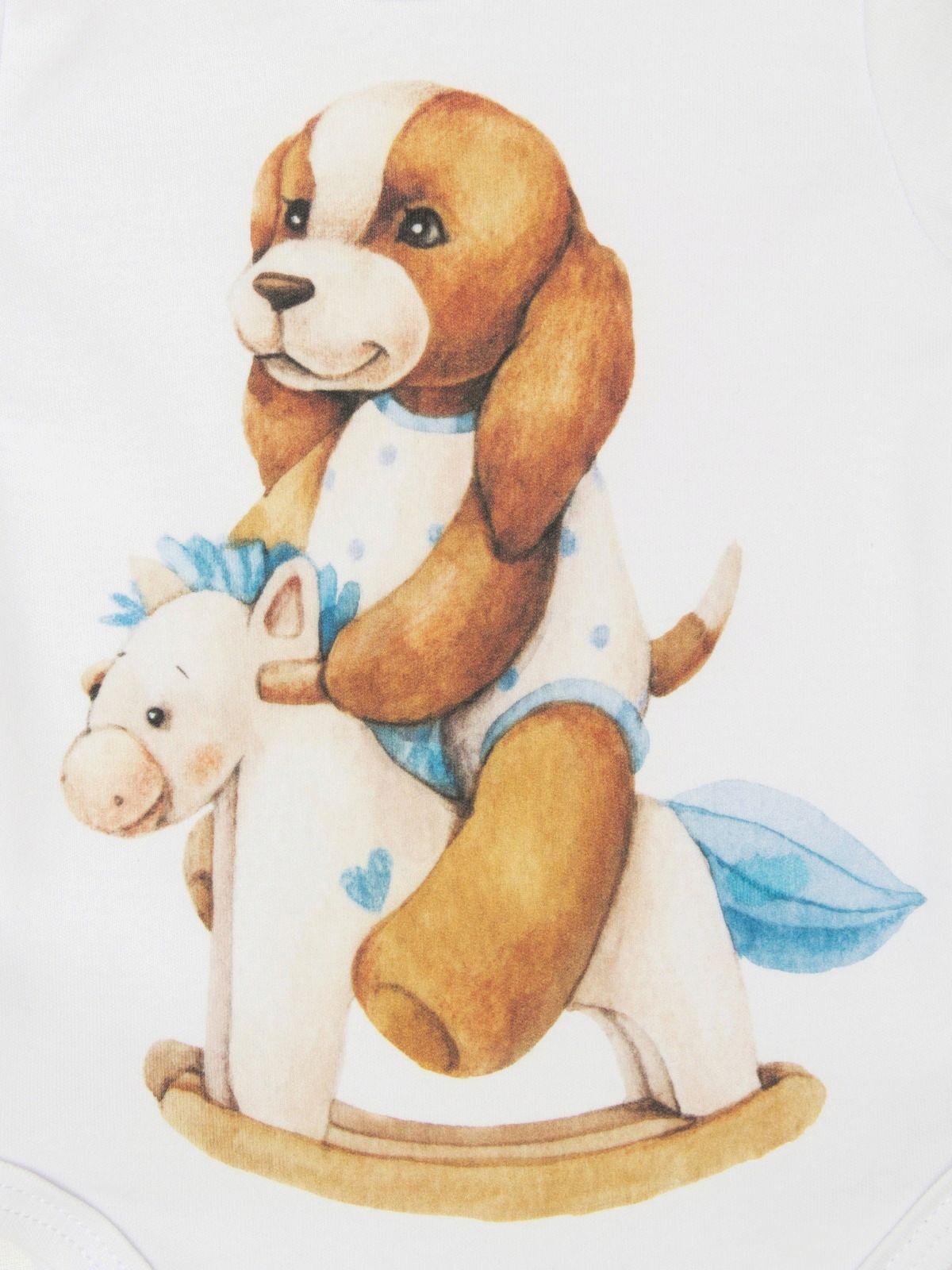 """Боди """"Собачка на качалке"""", LUXURY BABY"""